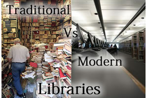 traditional vs modern library
